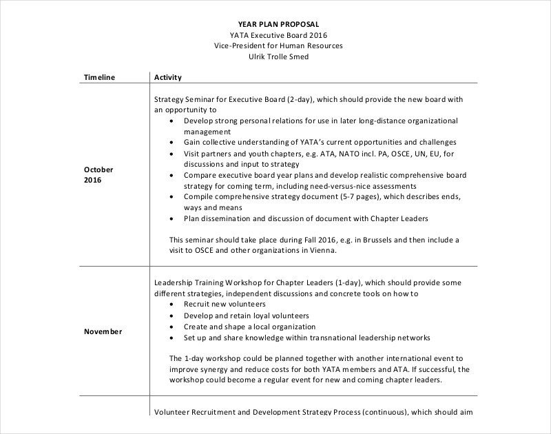 11 Hr Proposal Examples PDF Word Pages