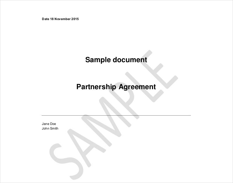 FREE 13+ Partnership Contract Examples & Samples in PDF
