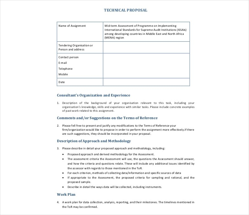 14 Technical Proposal Examples PDF DOC Examples