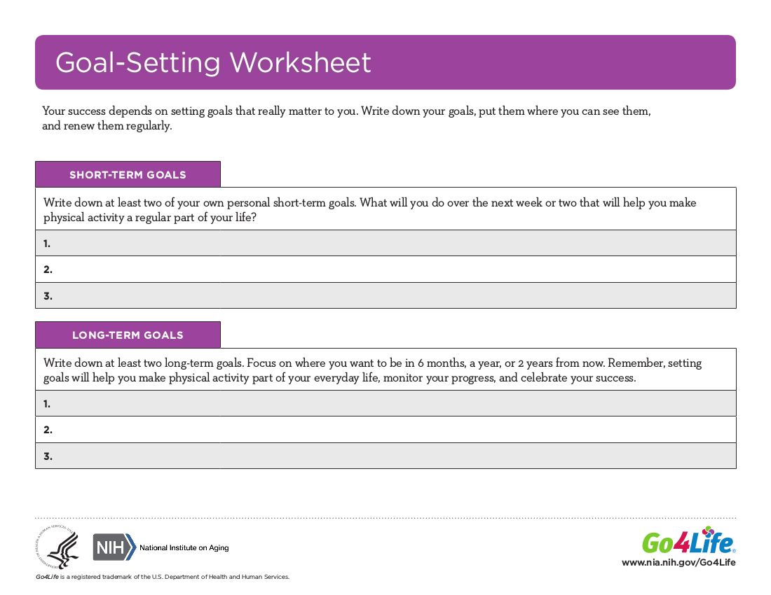 16 Goal Setting Worksheets