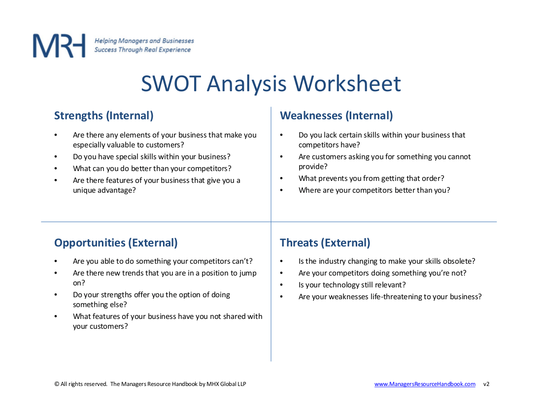 14 Swotysis Worksheet Examples Amp Samples