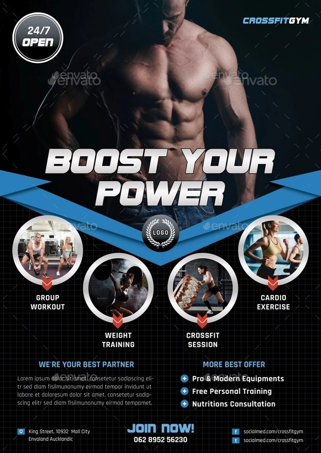 14 Gym Flyer Designs & Examples PSD AI