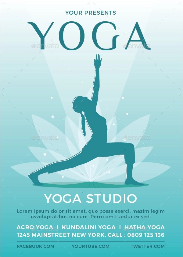25 Yoga Flyer Designs  Examples  PSD AI Word EPS