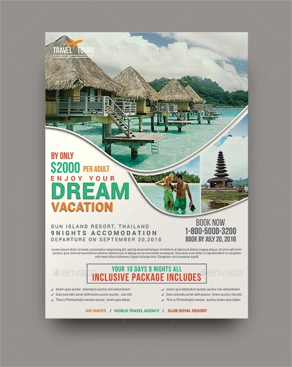 16 Travel Flyer Designs & Examples – PSD AI