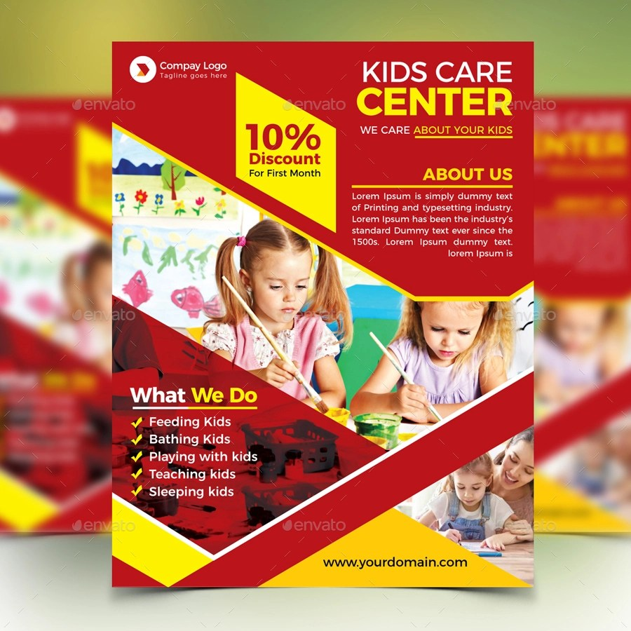 16 Child Care Flyer Designs & Examples – PSD AI Word