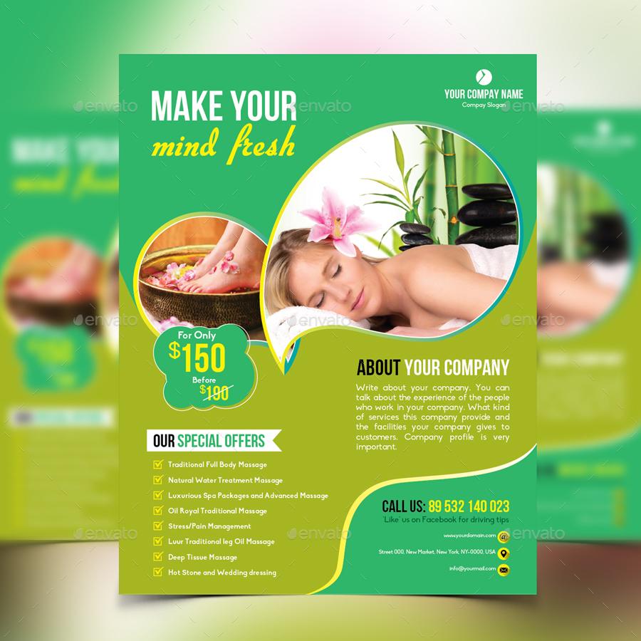 beauty flyer design