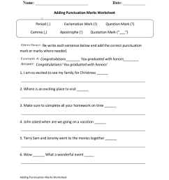 10 Punctuation Worksheet Examples in PDF   Examples [ 1100 x 850 Pixel ]