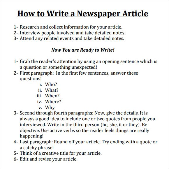 2 News Article Outline Examples  PDF  Examples