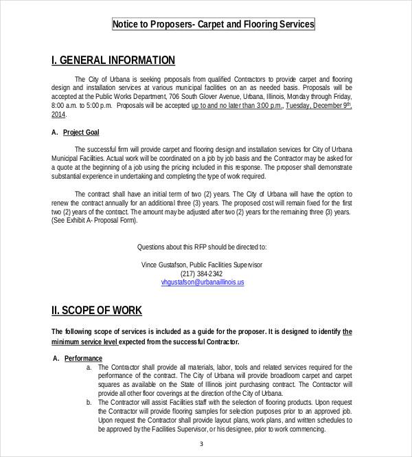 work proposal sample