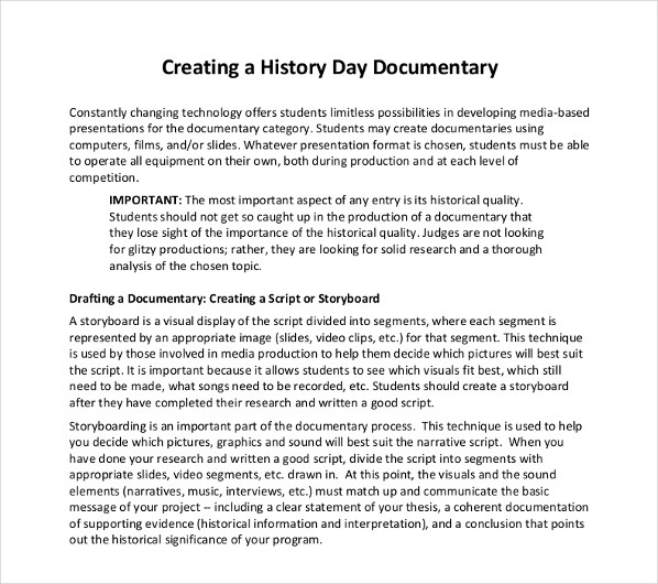2 Documentary Script Outline Examples  PDF  Examples