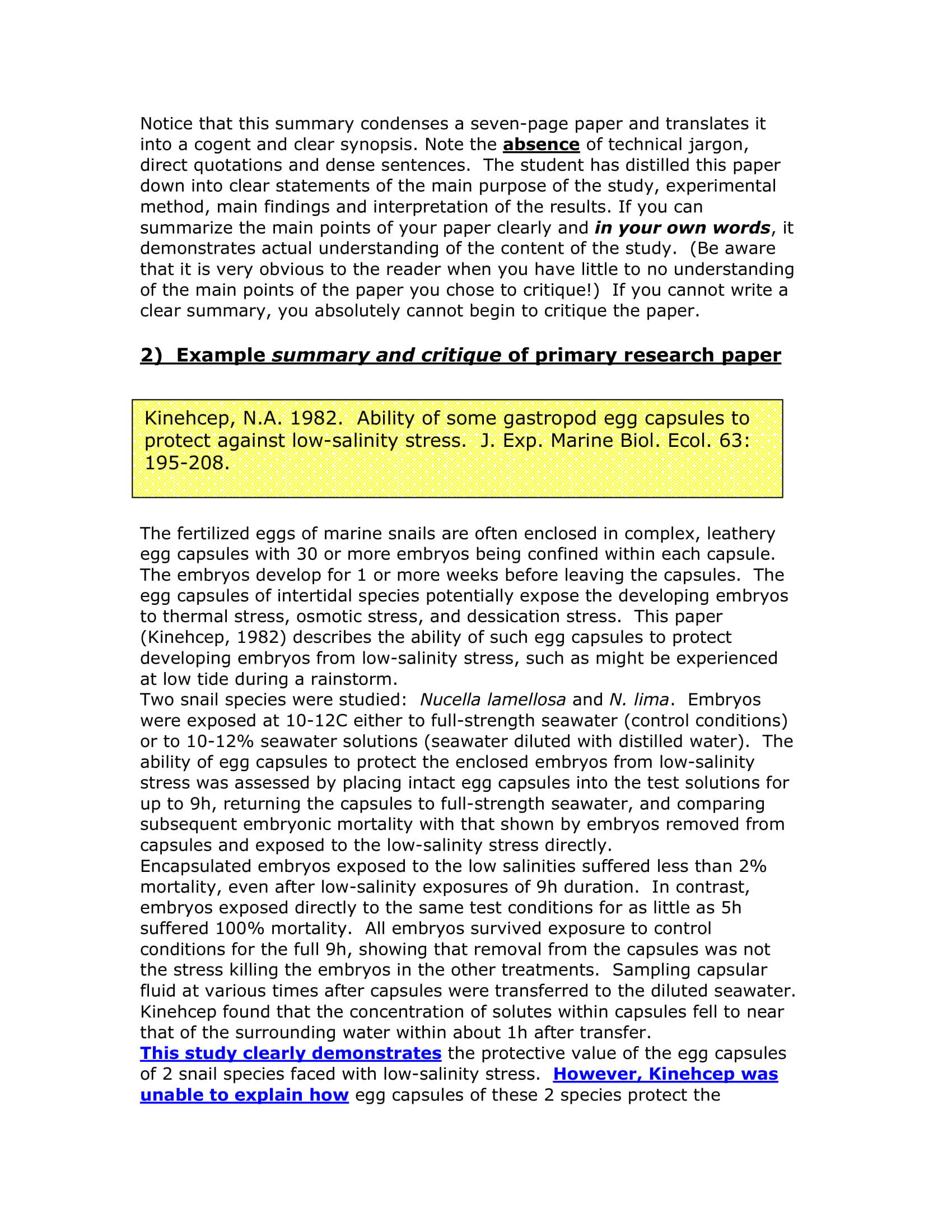 Research Summary Examples PDF