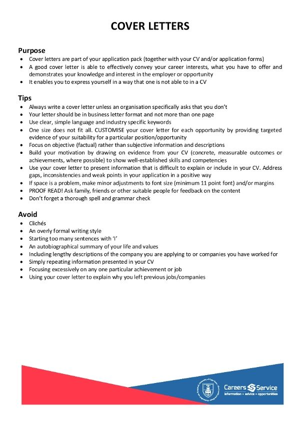 sample simple cover letter for resume