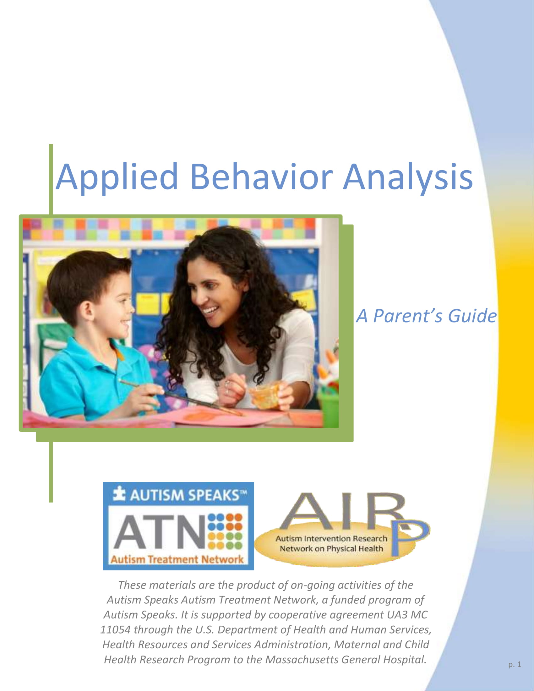 Applied Behavior Analysis – Autism Speaks