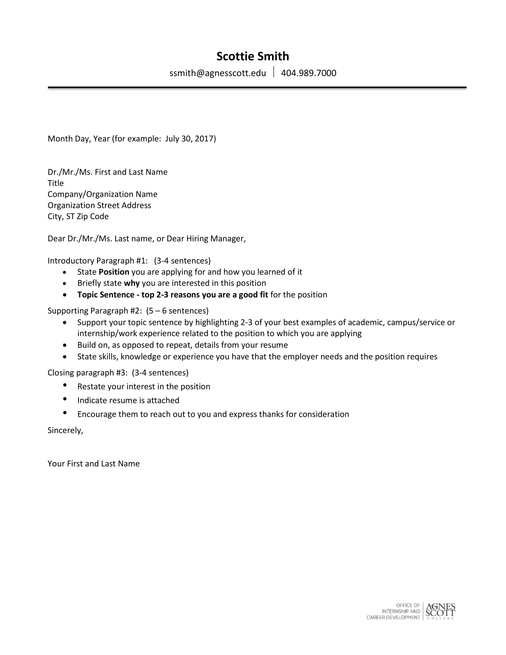 19 Cover Letter Examples  PDF  Examples