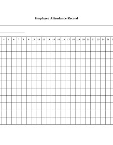 Employee attendance record example also printable sheet examples pdf word rh