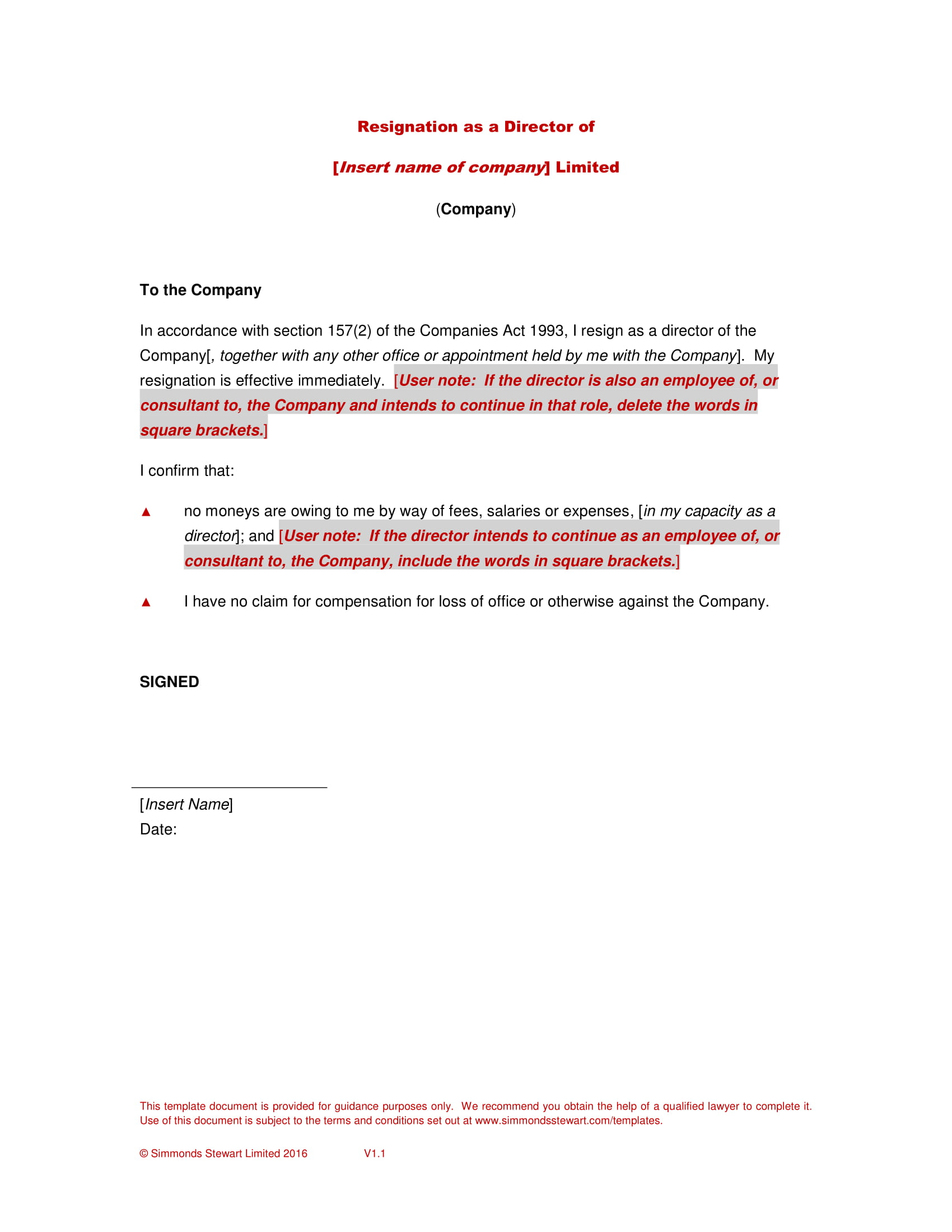 Board Resignation Letter with Examples in PDF  Examples