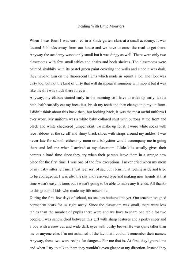 Write my narrative essay for free: Personal Narrative Essay