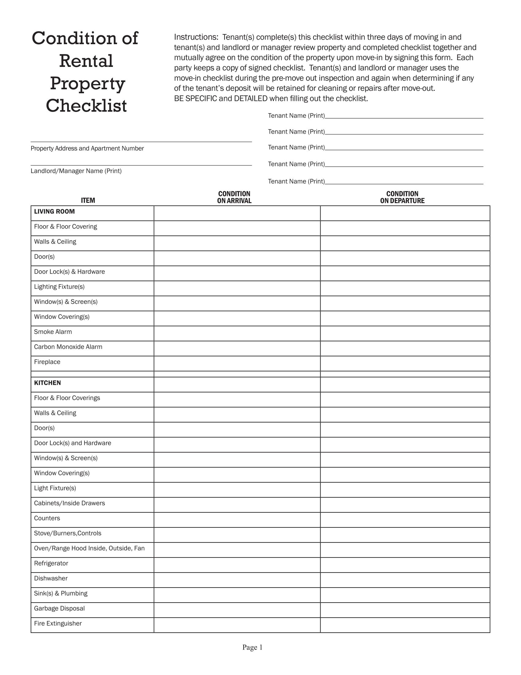 checklist house inspection