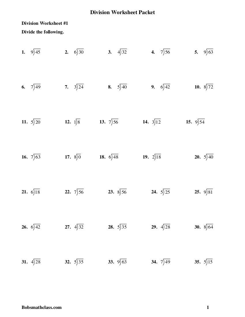hight resolution of 7+ Division Worksheet Examples in PDF   Examples