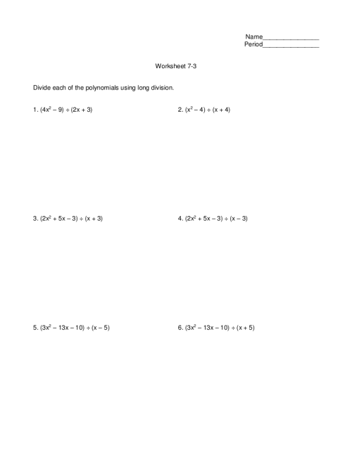 small resolution of 7+ Division Worksheet Examples in PDF   Examples