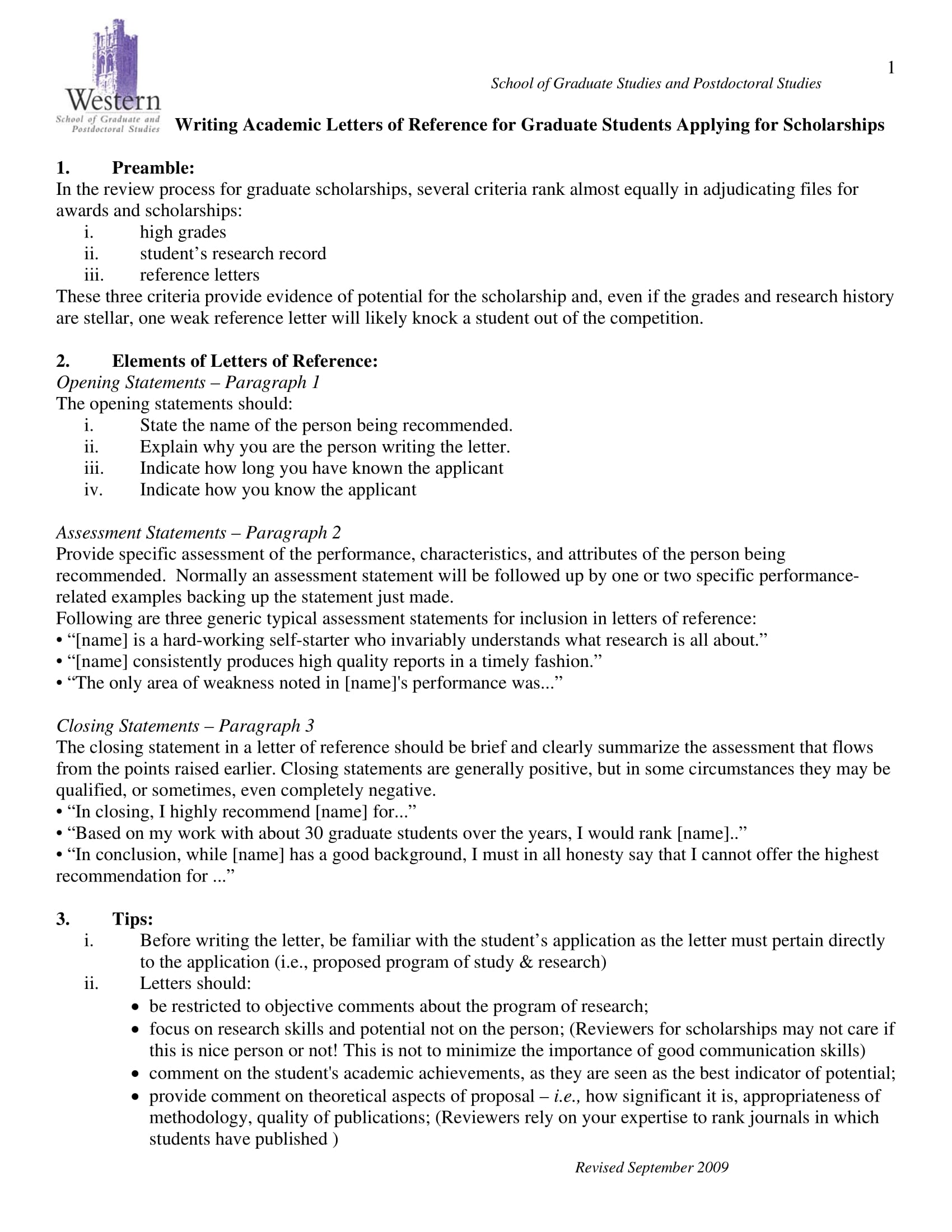 reference letter for scholarship example