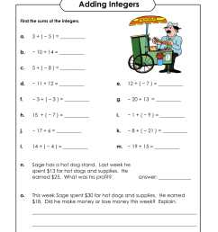 Adding Integers Worksheet Scoreboard   Printable Worksheets and Activities  for Teachers [ 2200 x 1700 Pixel ]