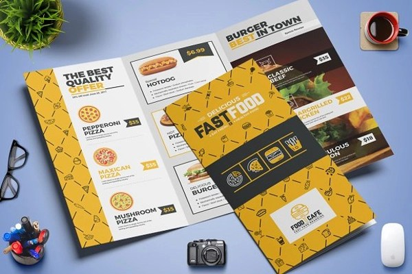 14 Fast Food Brochure Examples PSD AI Examples