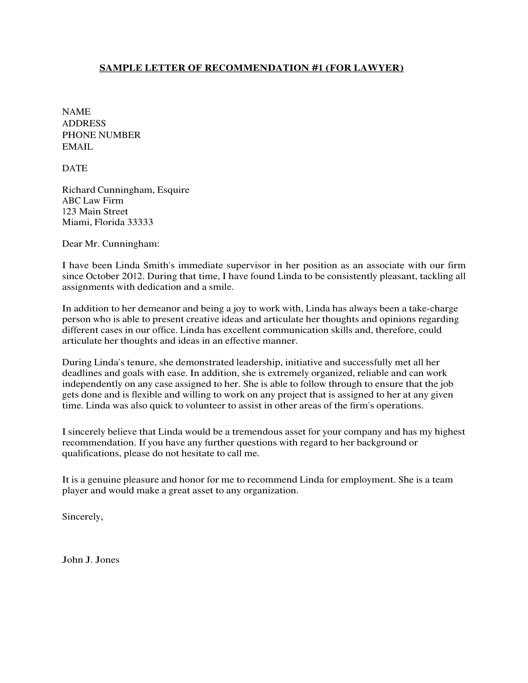 Legal Letter Of Recommendation 10 Business Reference Letter Examples Pdf Examples