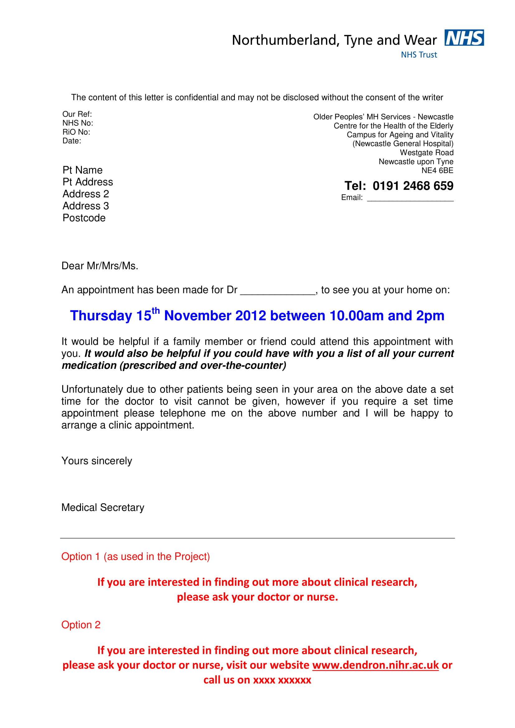6 Appointment Letter Format Examples  PDF Word  Examples