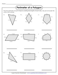 Worksheets. Perimeter Of Polygons Worksheet. waytoohuman ...