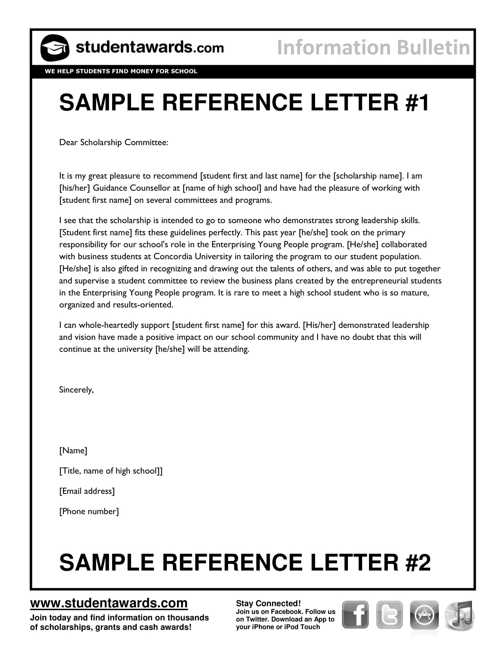 example of professional character reference letter