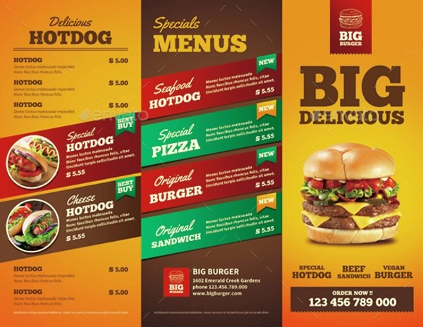 12 Fast Food Brochure Examples PSD AI