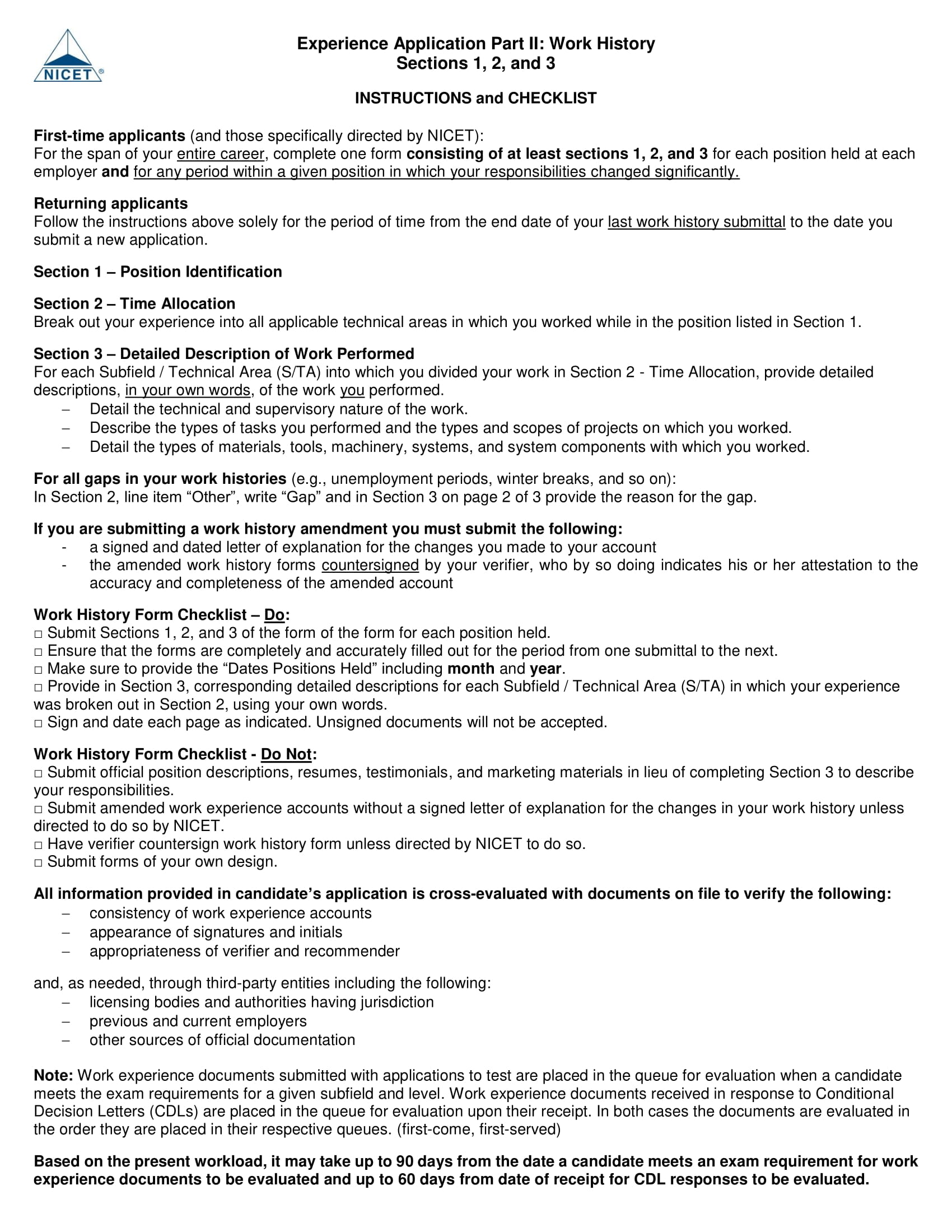 9 Employment History Form Examples PDF DOC