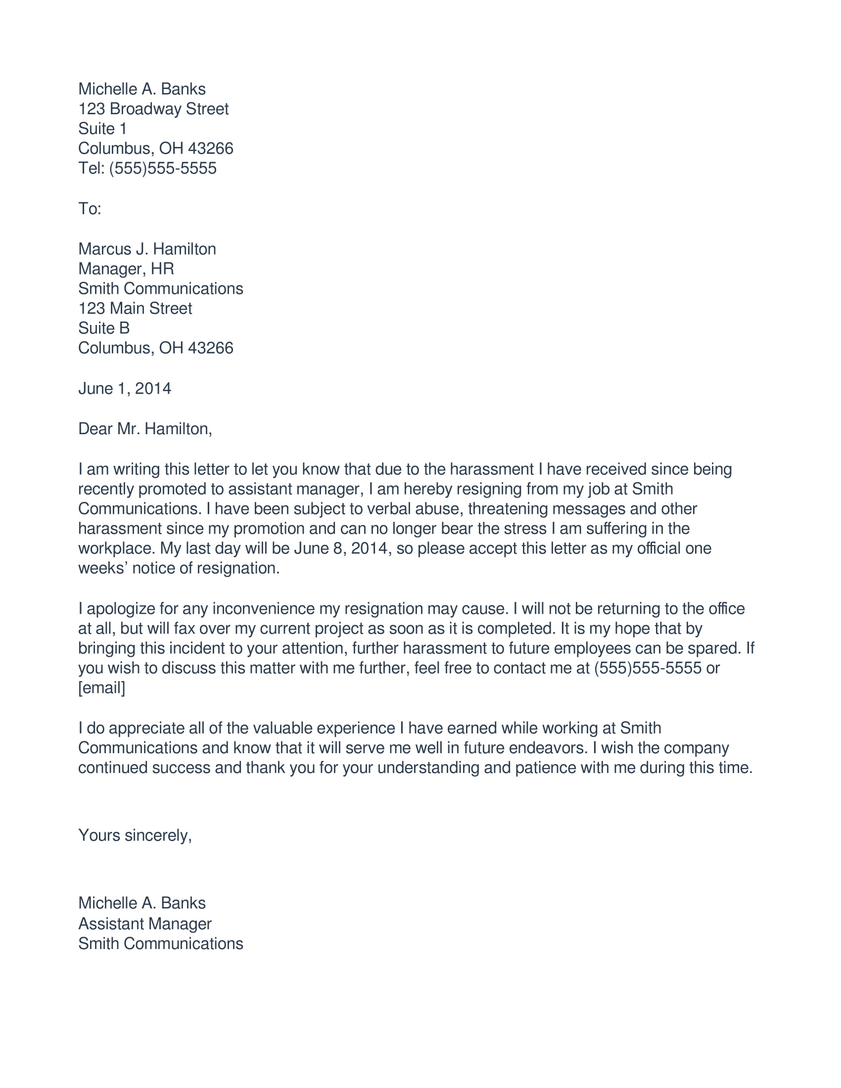 Resignation Letter Due To Medical Reasons 7 Immediate Resignation Letter Examples Pdf Doc Examples
