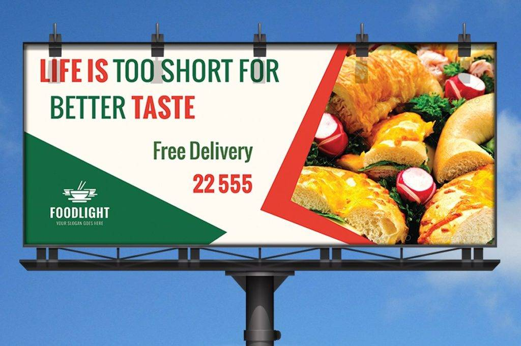 14 Restaurant Billboard Designs And Examples PSD AI Examples