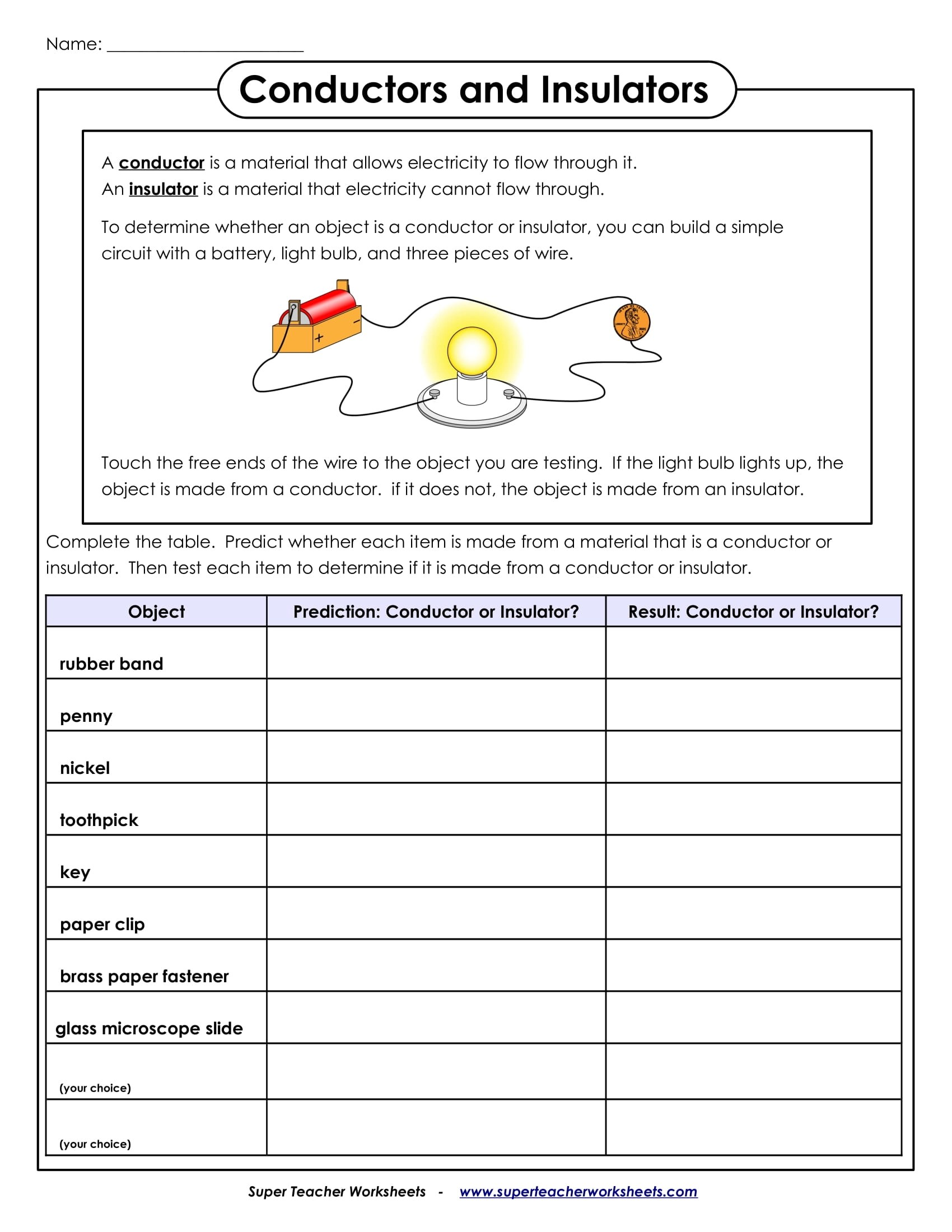 5 Science Worksheets Examples For Students
