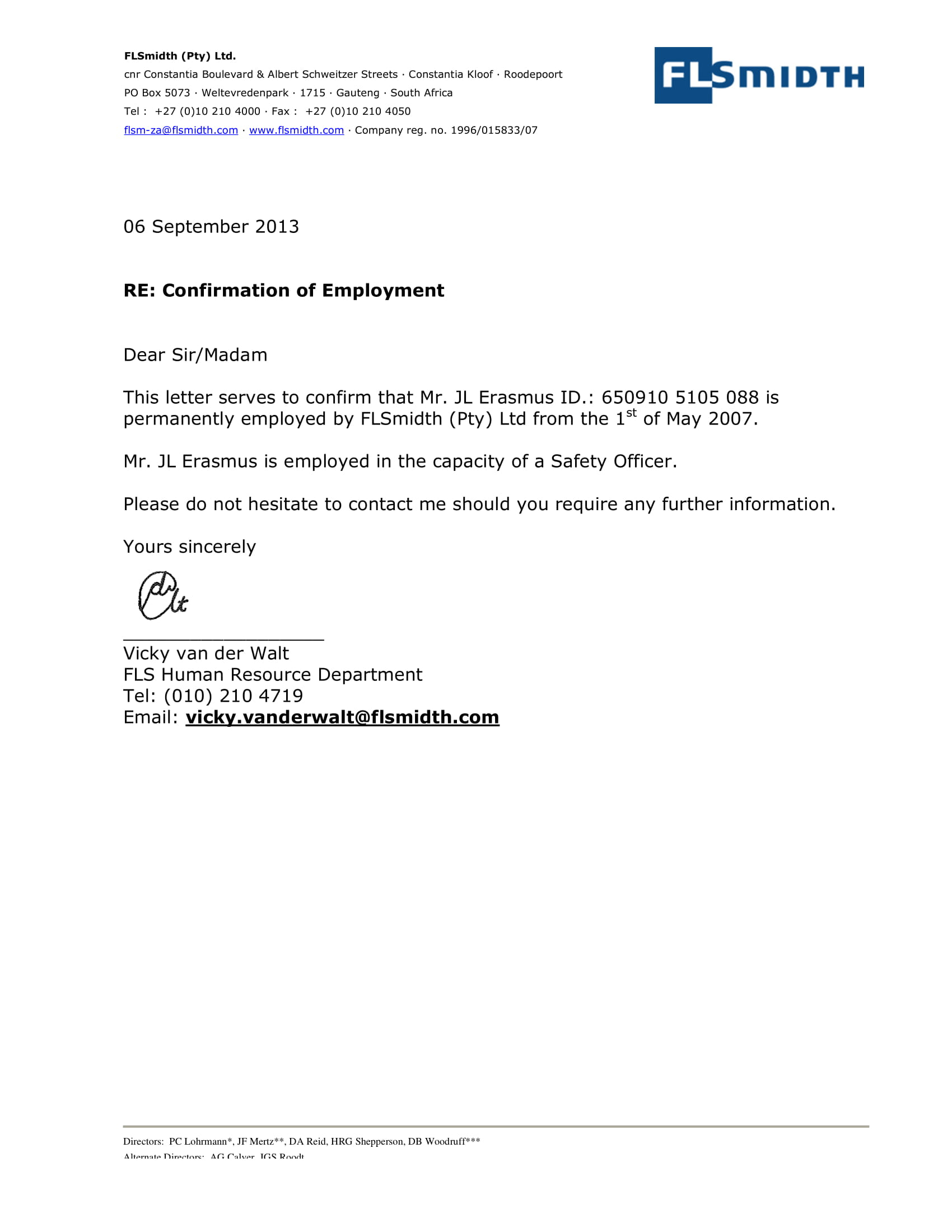 14 Employment Verification Letter Examples  PDF DOC  Examples