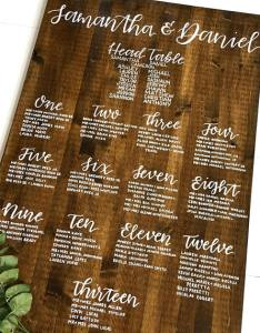 Custom wood wedding seating chart example also designs and examples psd ai rh