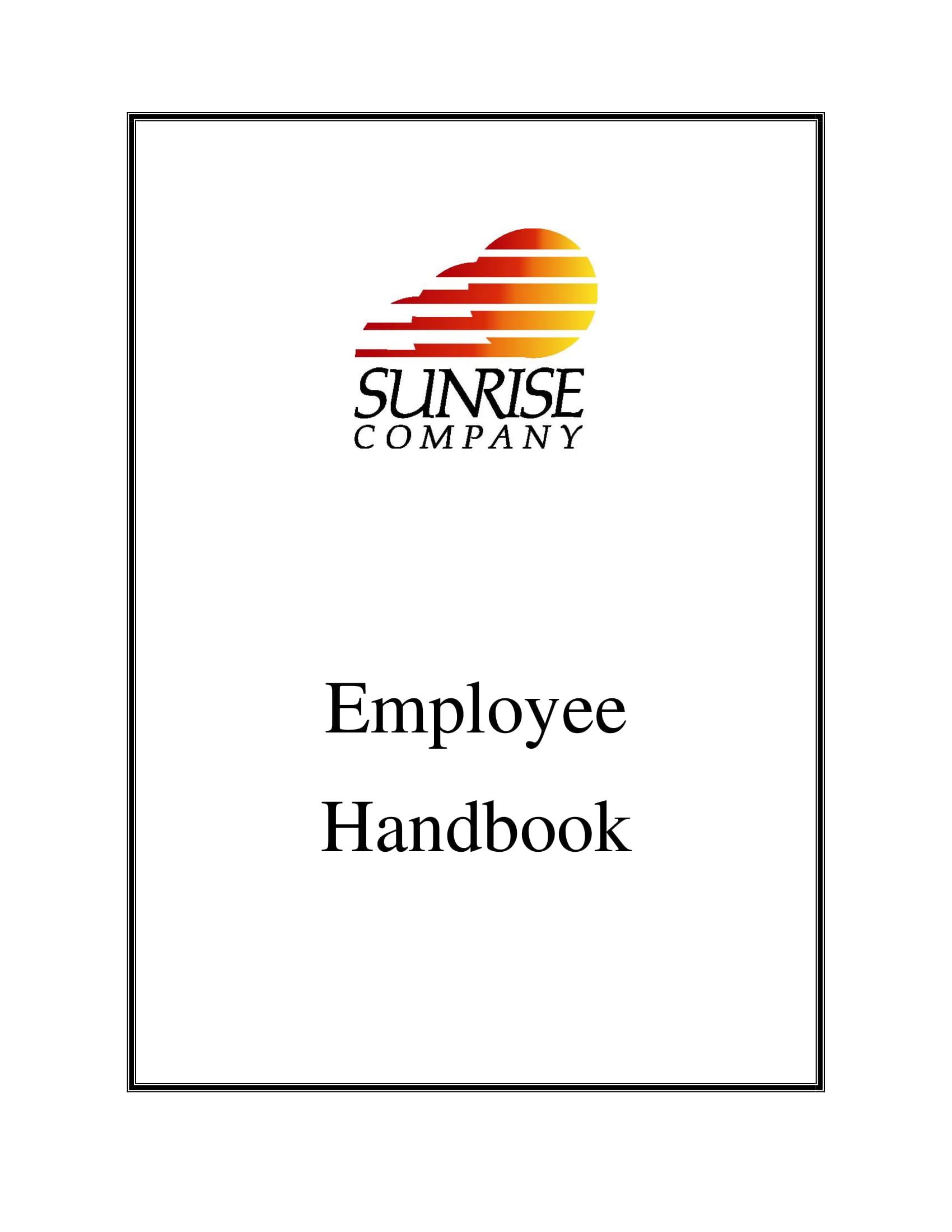 employee handbook for work rules example