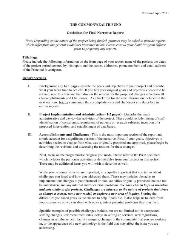29+ Narrative Report Examples - PDF  Examples