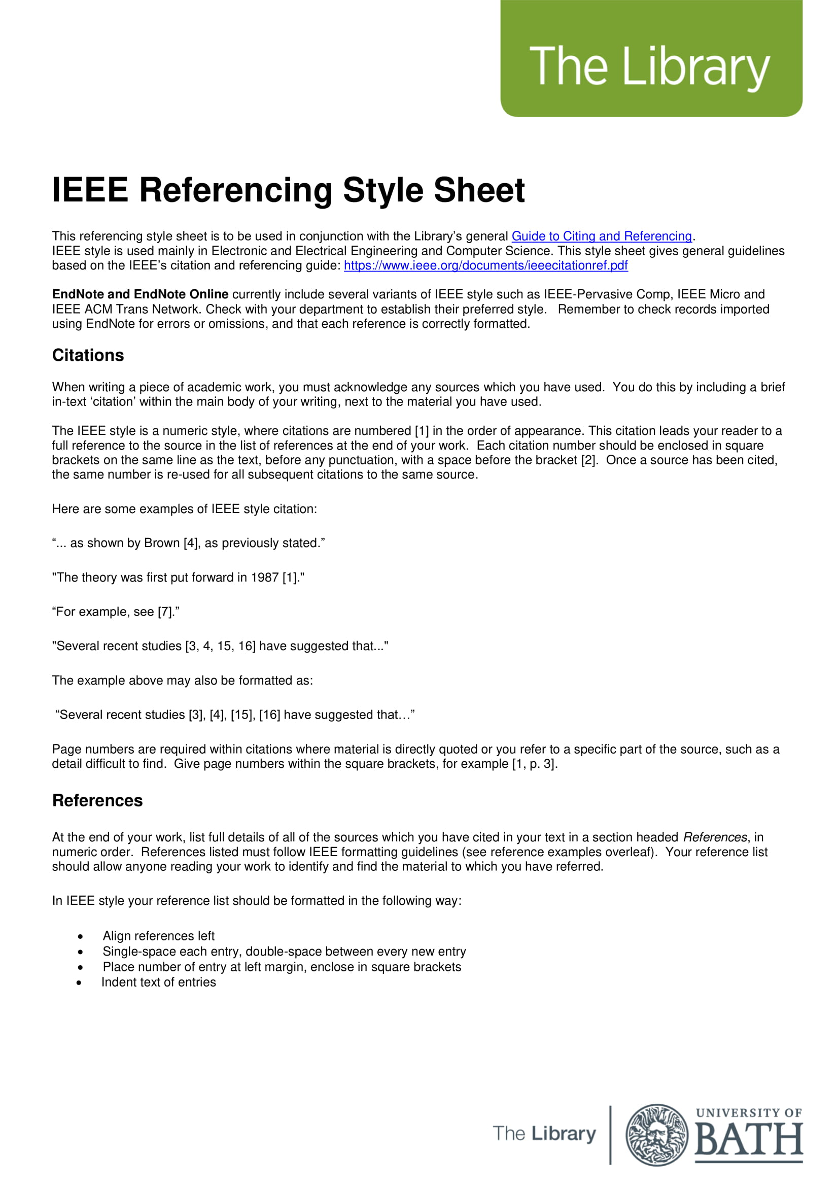 9 Reference List Examples
