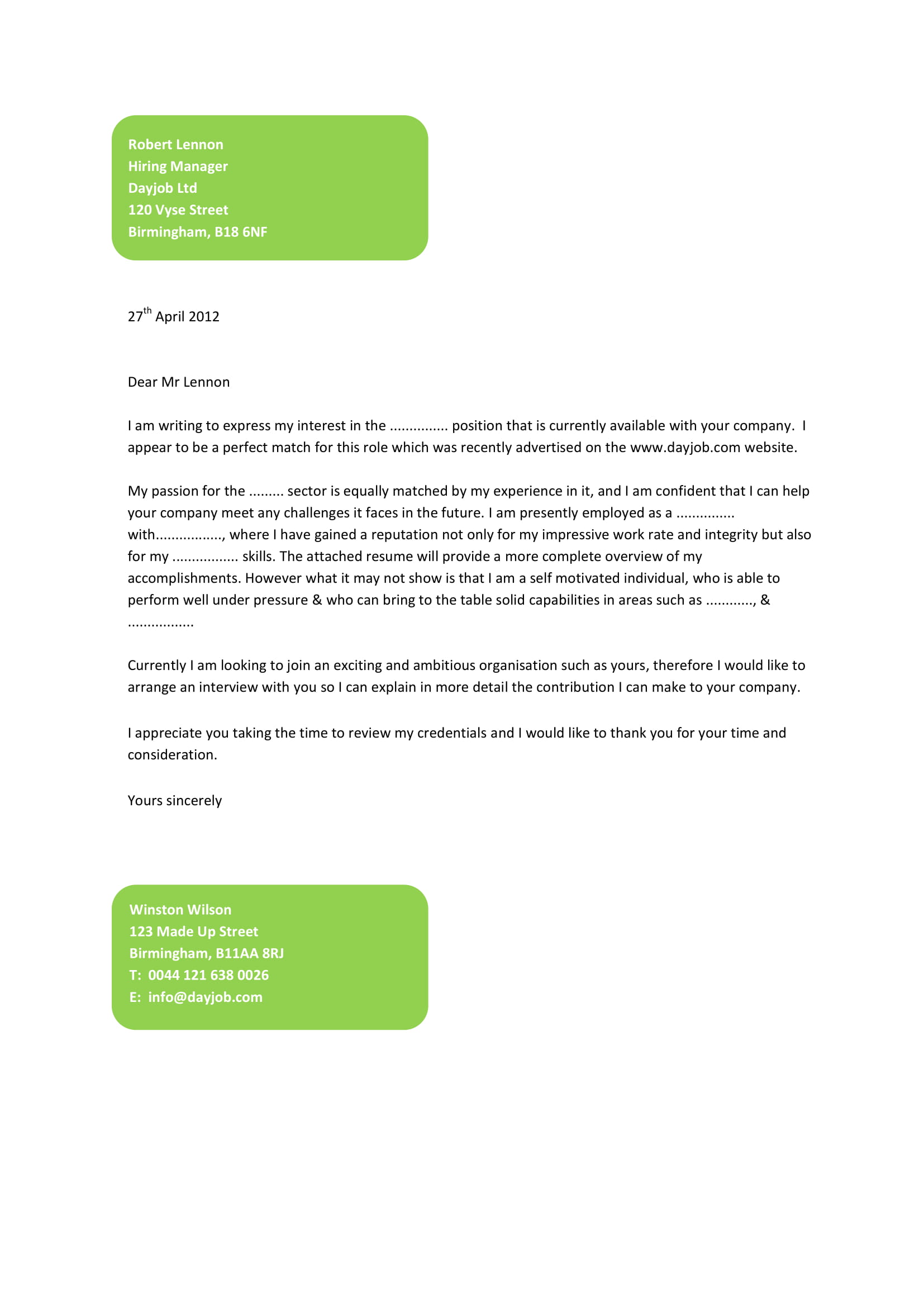 sample application cover letter template sample cover letter