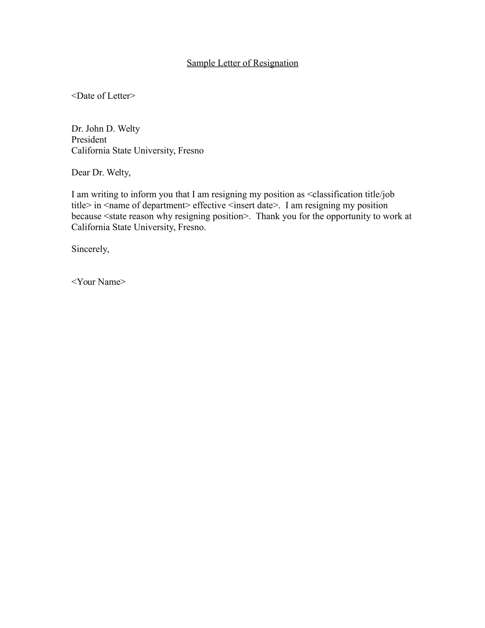 Sample Of Resignation Letter From Job 17 Free Resignation Letter Pdf Doc Examples