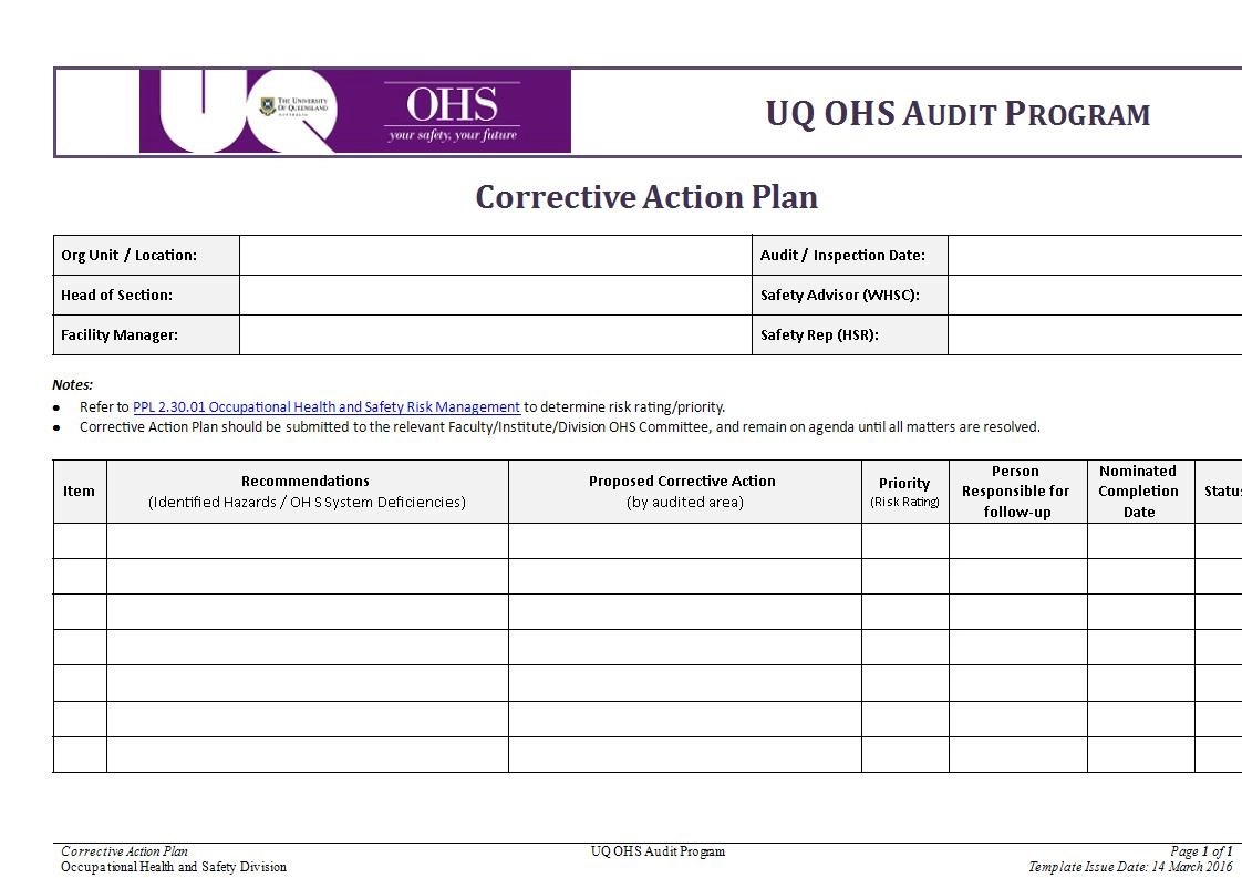 9+ Corrective Action Plan Examples in Word