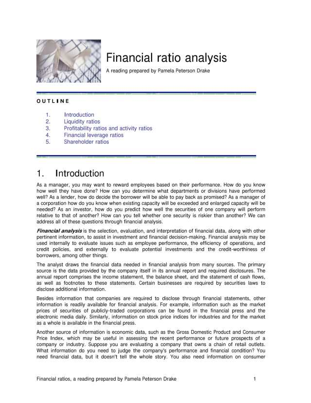 How To Write A Company Financial Analysis Report
