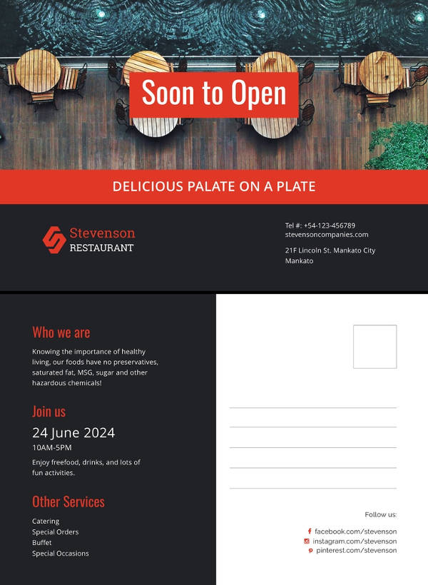 event announcement template