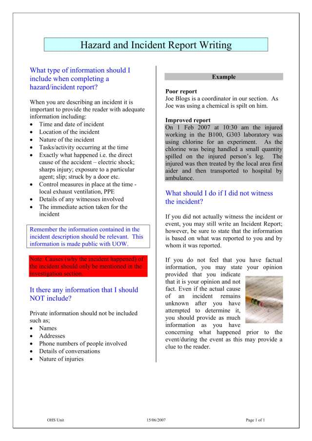 24+ Incident Report Writing Examples - PDF  Examples