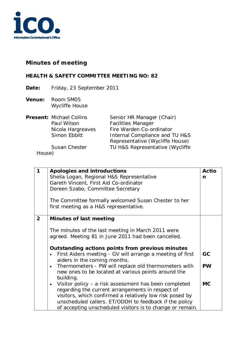 how to draft meeting minutes