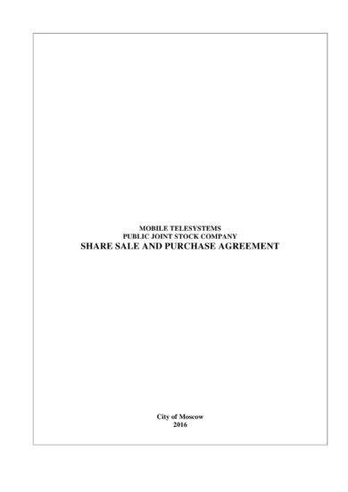 9+ Stock Sale Agreement Examples - PDF