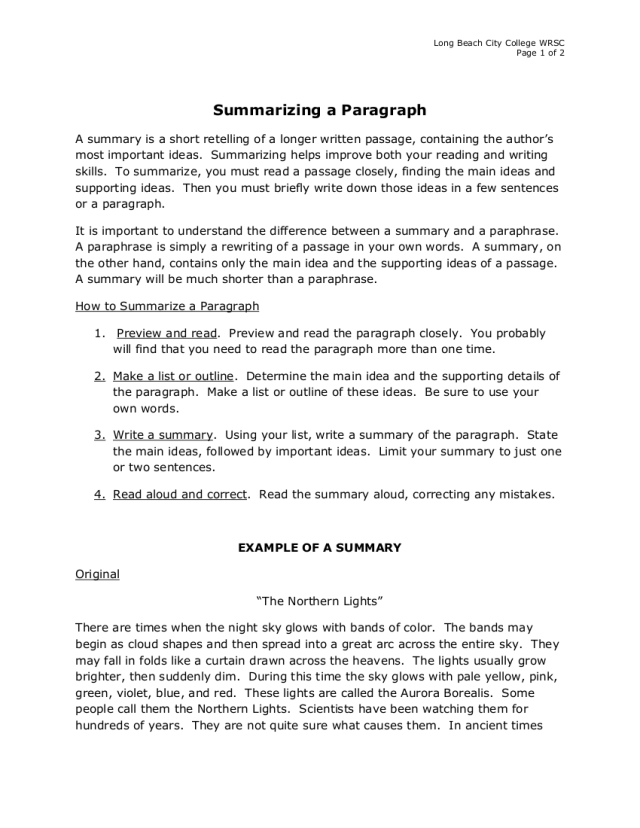 30+ Summary Writing Examples in PDF  Examples